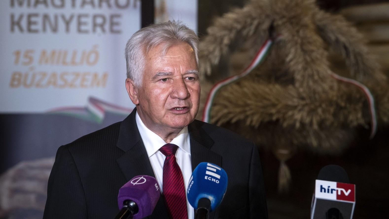 Jakab István, a Magyar Gazdakörök és Gazdaszövetkezetek Szövetségének (MAGOSZ) elnöke (Fotó: MTI/Szigetváry Zsolt)