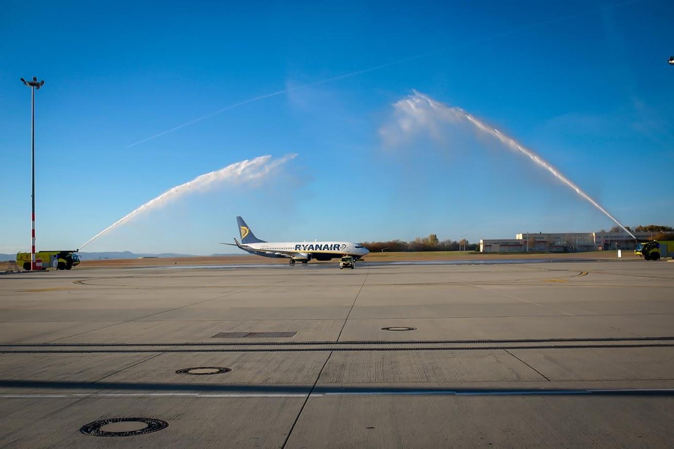 RyanAir-Amman járatának fogadása (Foto: RyanAir)