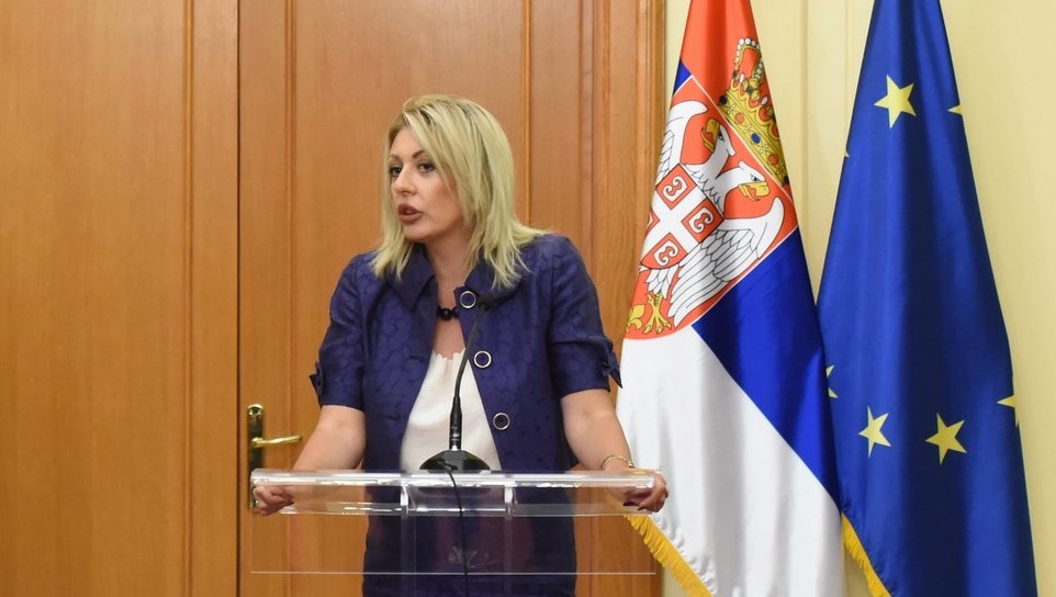 Jadranka Joksimovic szerb EU-integrációért felelős miniszter (Fotó: MTI/KKM)