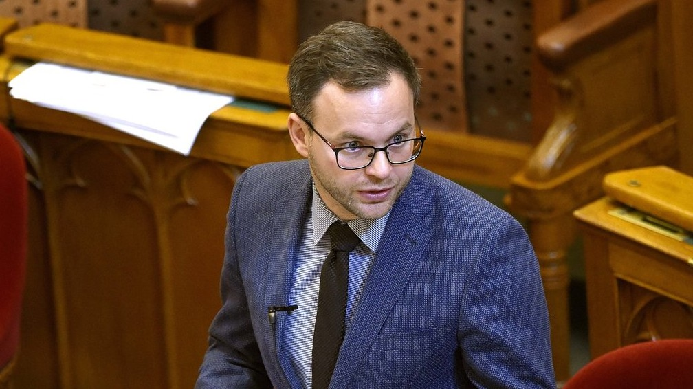 Orbán Balázs, a Miniszterelnökség parlamenti és stratégiai államtitkára (Fotó: MTI/Bruzák Noémi)