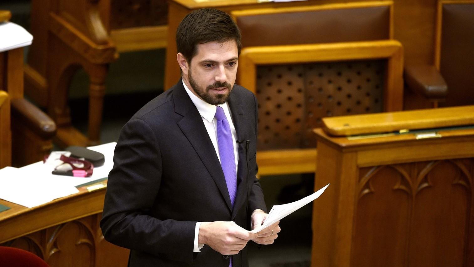 Magyar Levente, a Külgazdasági és Külügyminisztérium parlamenti államtitkára (Fotó: MTI/Bruzák Noémi)