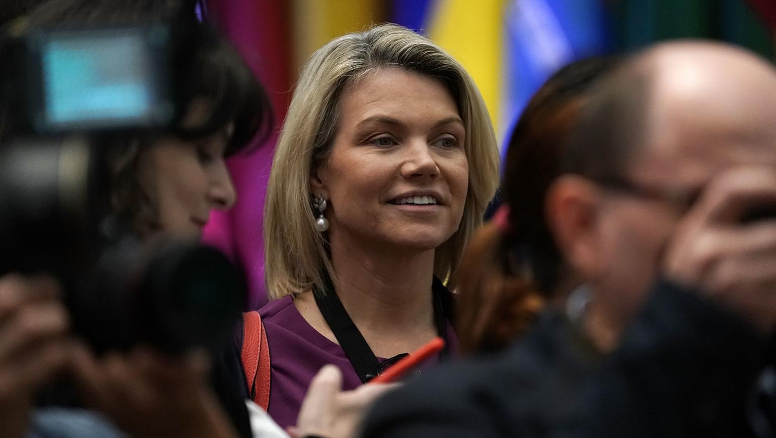Heather Nauert, amerikai külügyi szóvivő (Fotó: Getty Images)