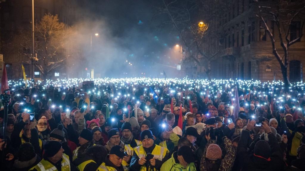 Újabb tüntetések zajlottak Budapesten