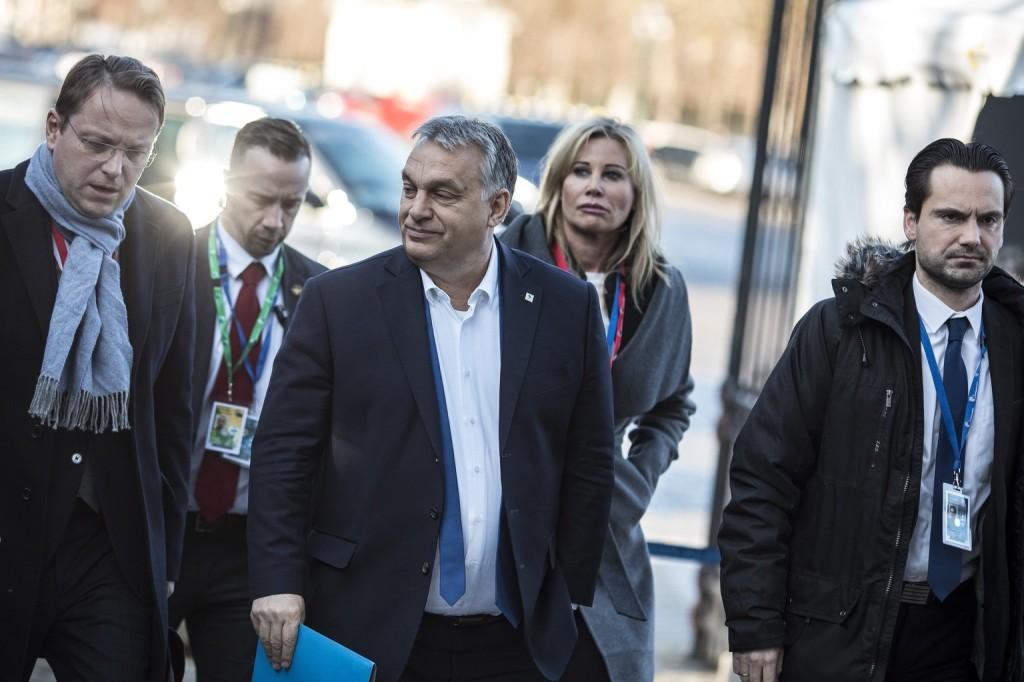 Orbán Viktor Brüsszelbe érkezett
