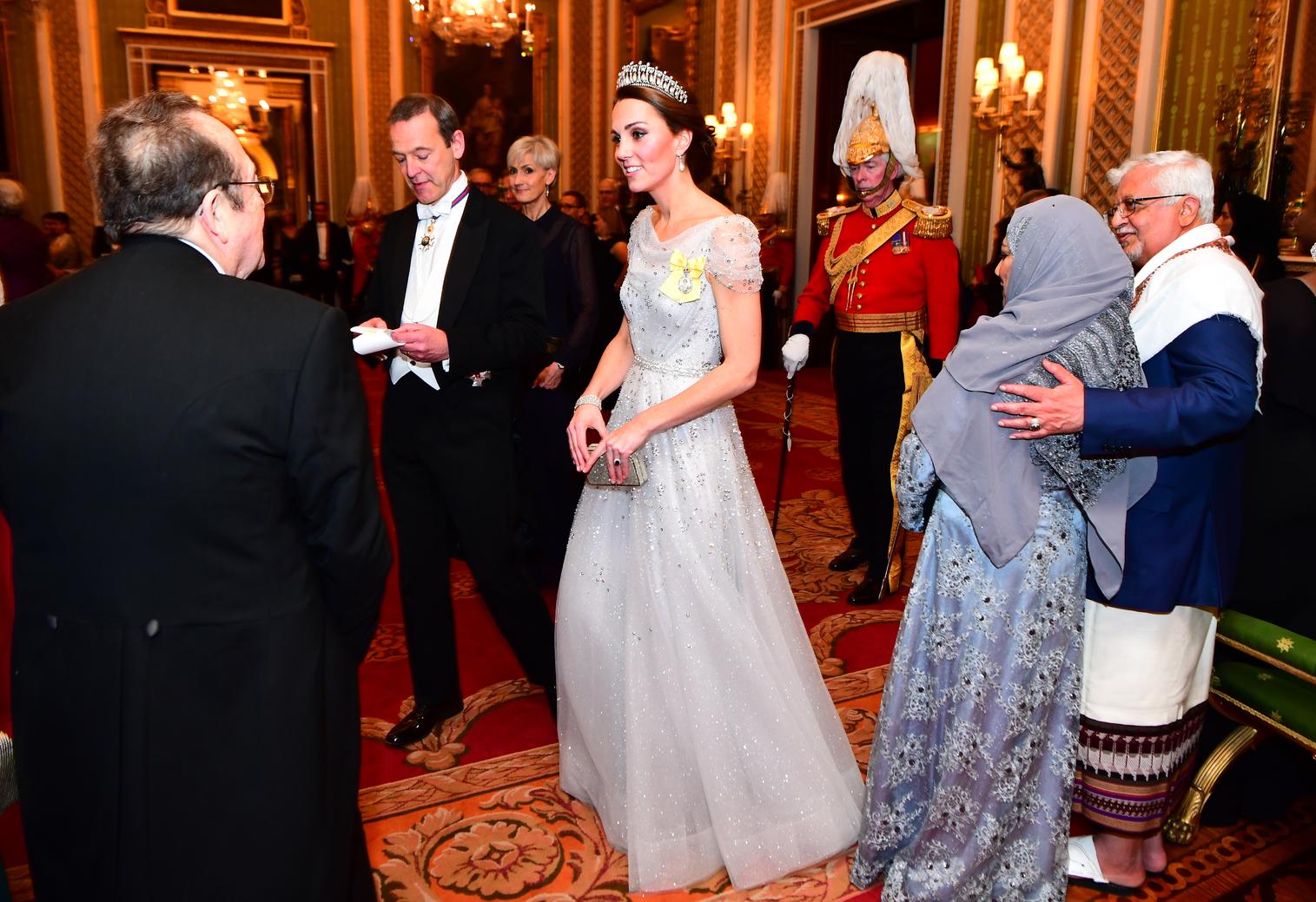 Katalin hercegné a Buckingham-palotában rendezett diplomáciai vacsorán (Fotó: Getty Images)