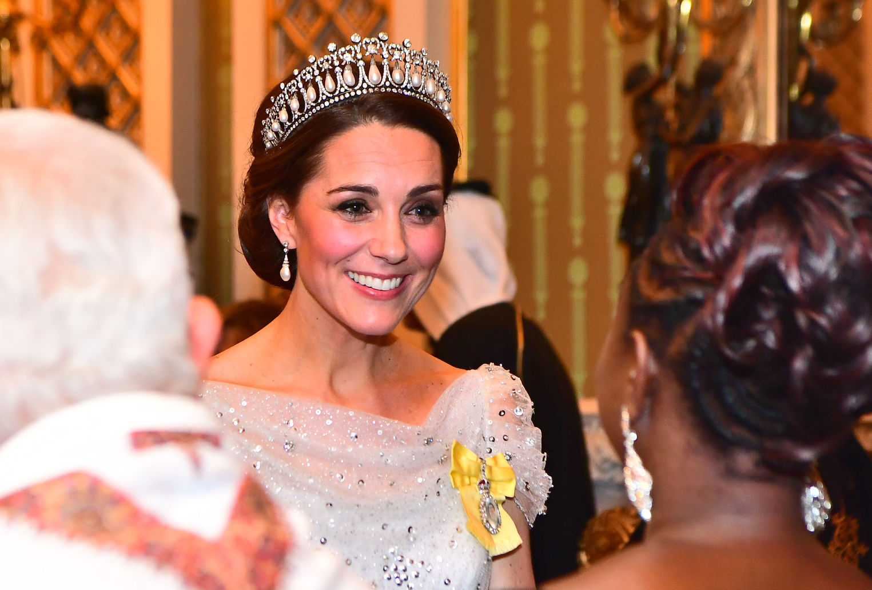 A hercegné Diana kedvenc tiaráját viselte (Fotó: Getty Images)