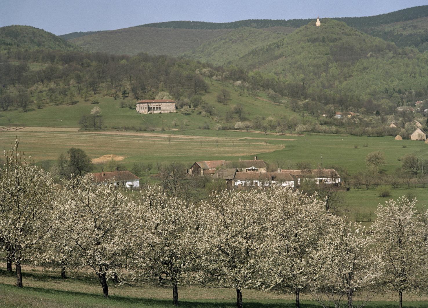 Velem település részlete, háttérben a hegytetőn a Szent Vid-kápolna. MTI Fotó: Járai Rudolf