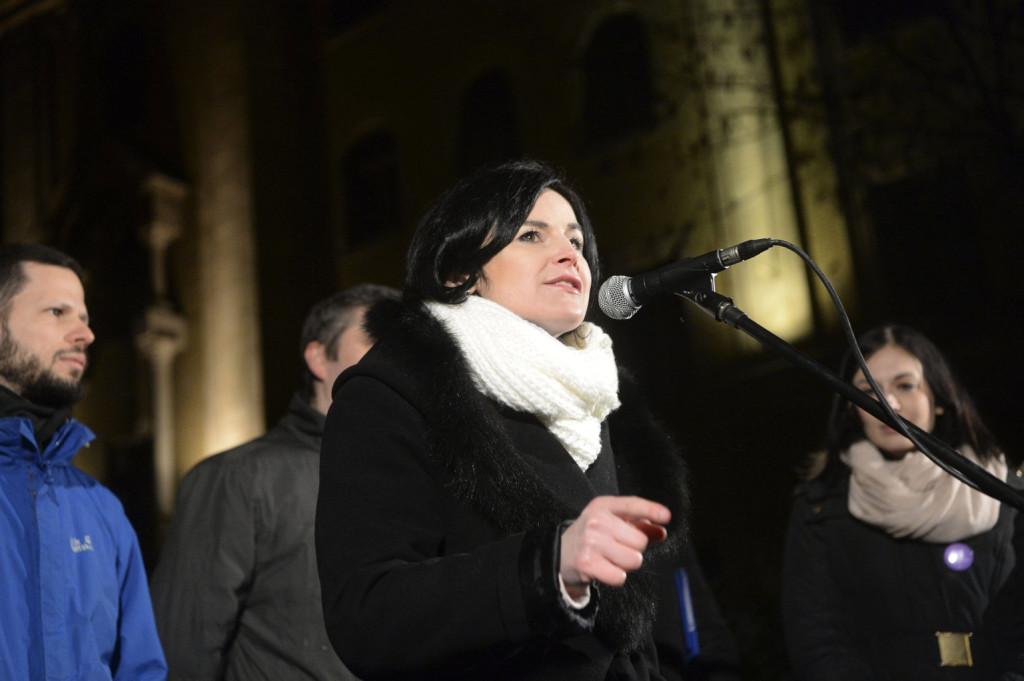 A Legfőbb Ügyészség tevékenysége ellen tüntettek Budapesten