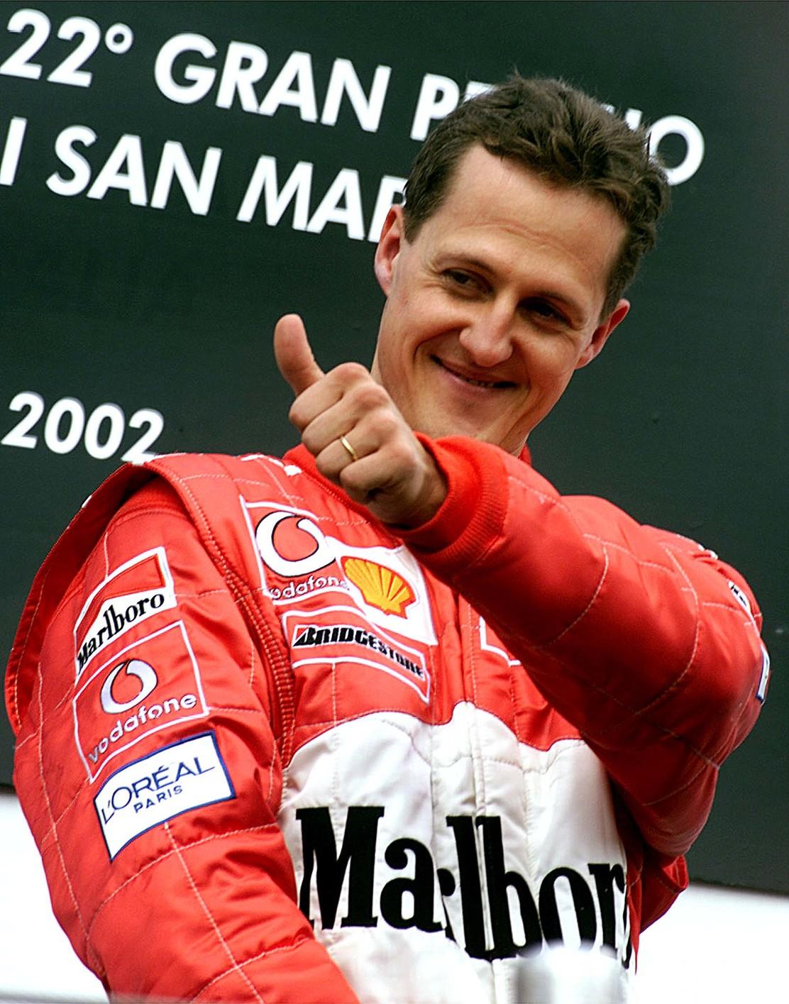Michael Schumacher 2002-ben (Fotó: MTI/EPA)