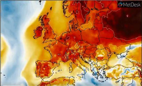 Messze átlagon felüli enyhe idő várható Európa-szerte