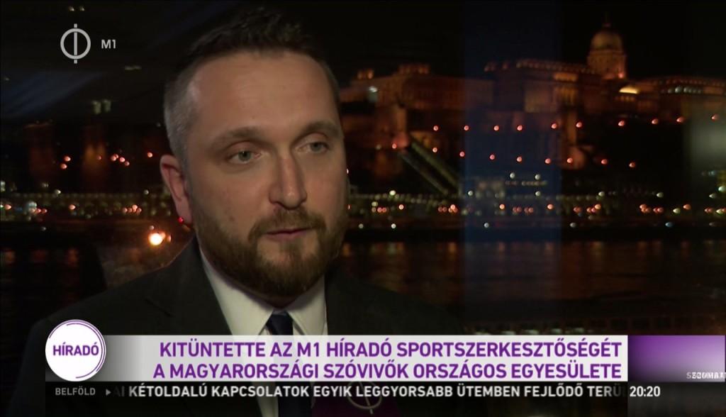Médiadíjat kapott az M1 sportszerkesztősége