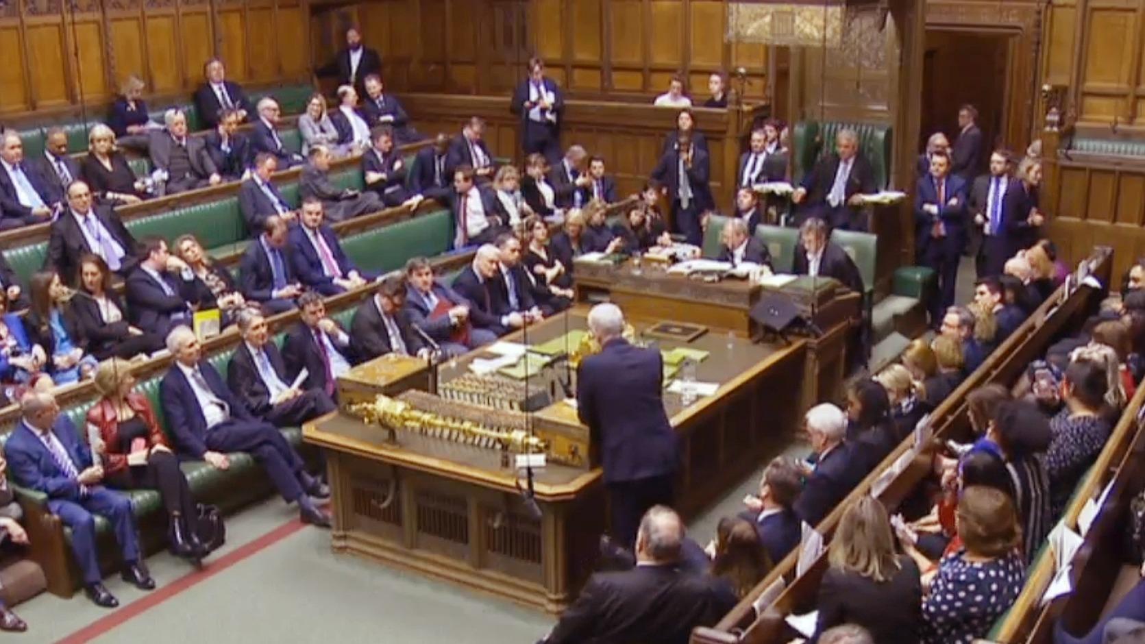 A londoni alsóház a Brexit halasztását kérte - (Fotó: EPA)