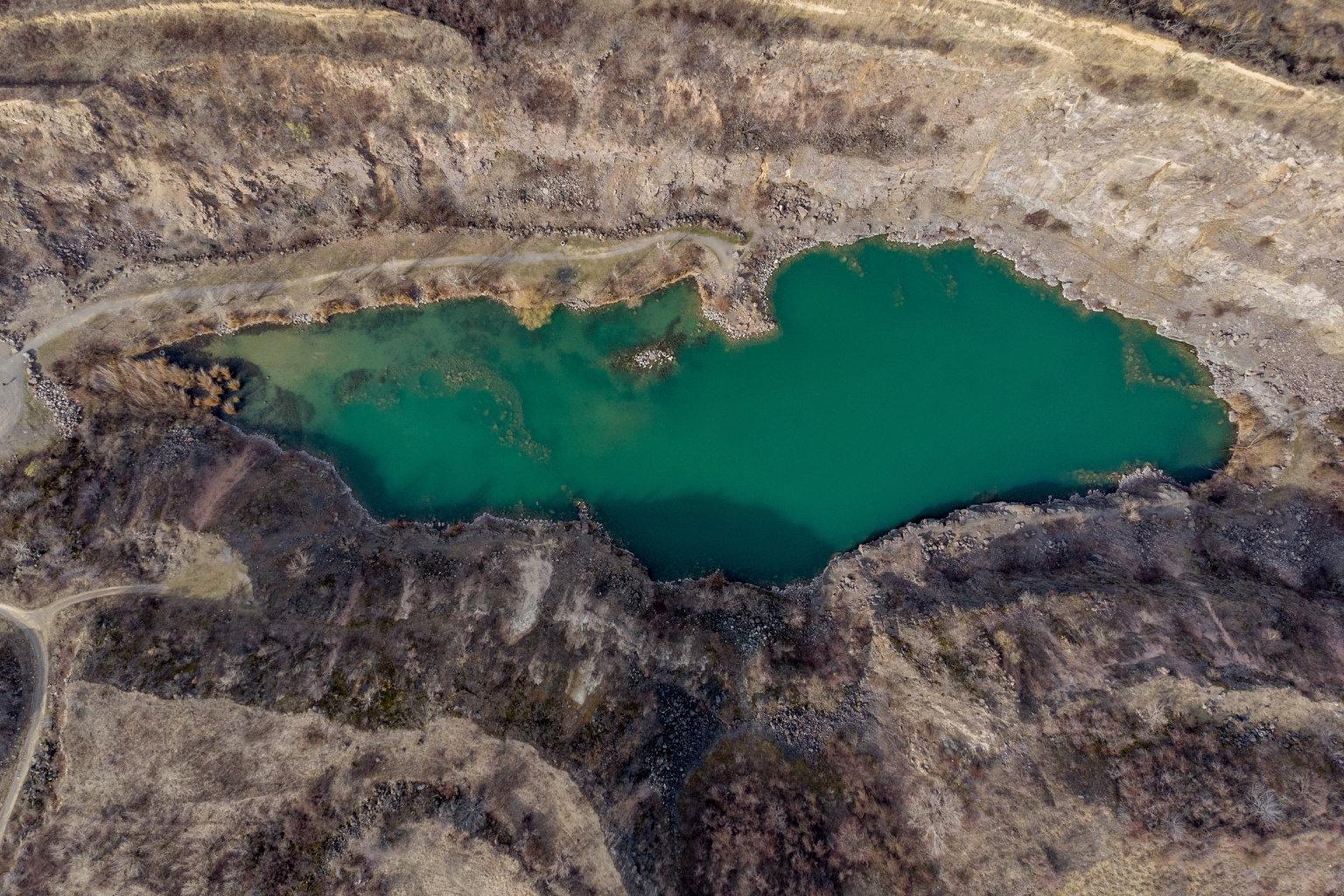 Tarcal, 2019. március 22. Bányató Tarcalnál 2019. március 11-én. Az ENSZ március 22-ét nyilvánította a víz világnapjává, amelynek célja a környezet és ezen belül a Föld vízkészletének védelme. MTI/Czeglédi Zsolt