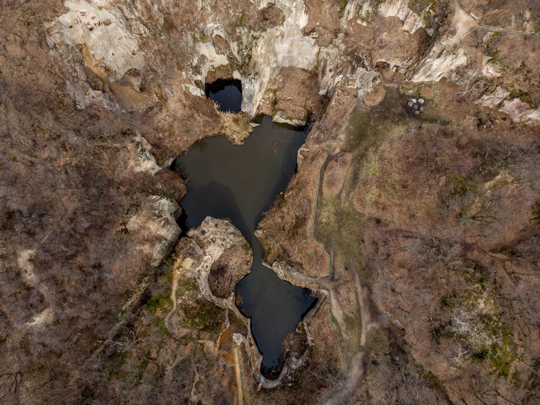 Sárospatak, 2019. március 22. A Megyer-hegyi tengerszem Sárospatak közelében 2019. március 11-én. Az ENSZ március 22-ét nyilvánította a víz világnapjává, amelynek célja a környezet és ezen belül a Föld vízkészletének védelme. MTI/Czeglédi Zsolt
