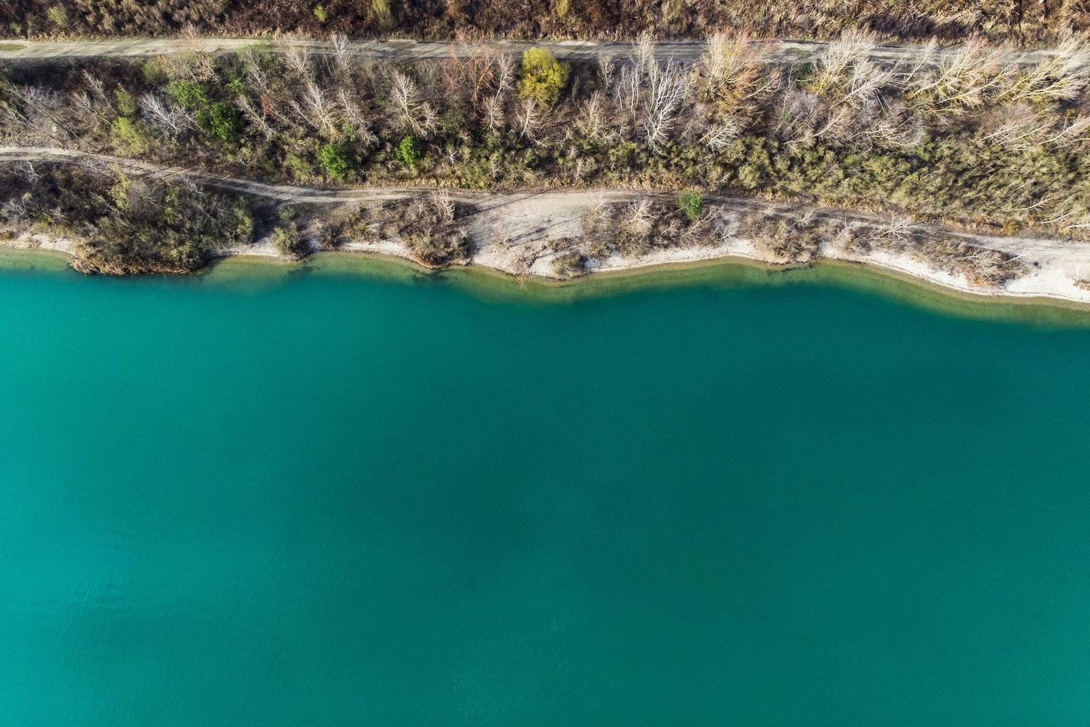 Gyékényes, 2019. március 19. A Somogy megyei gyékényesi bányató 2019. március 19-én. Az ENSZ március 22-ét nyilvánította a víz világnapjává, amelynek célja a környezet és ezen belül a Föld vízkészletének védelme. MTI/Varga György