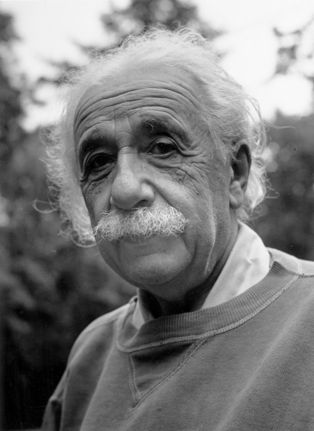 Albert Einstein Princertoni otthonában 1950-ben (Doreen Spooner/Keystone/Getty Images)