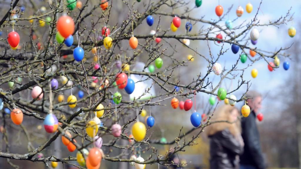 Több mint hétezer tojással díszítenek egy fát Dunaföldváron