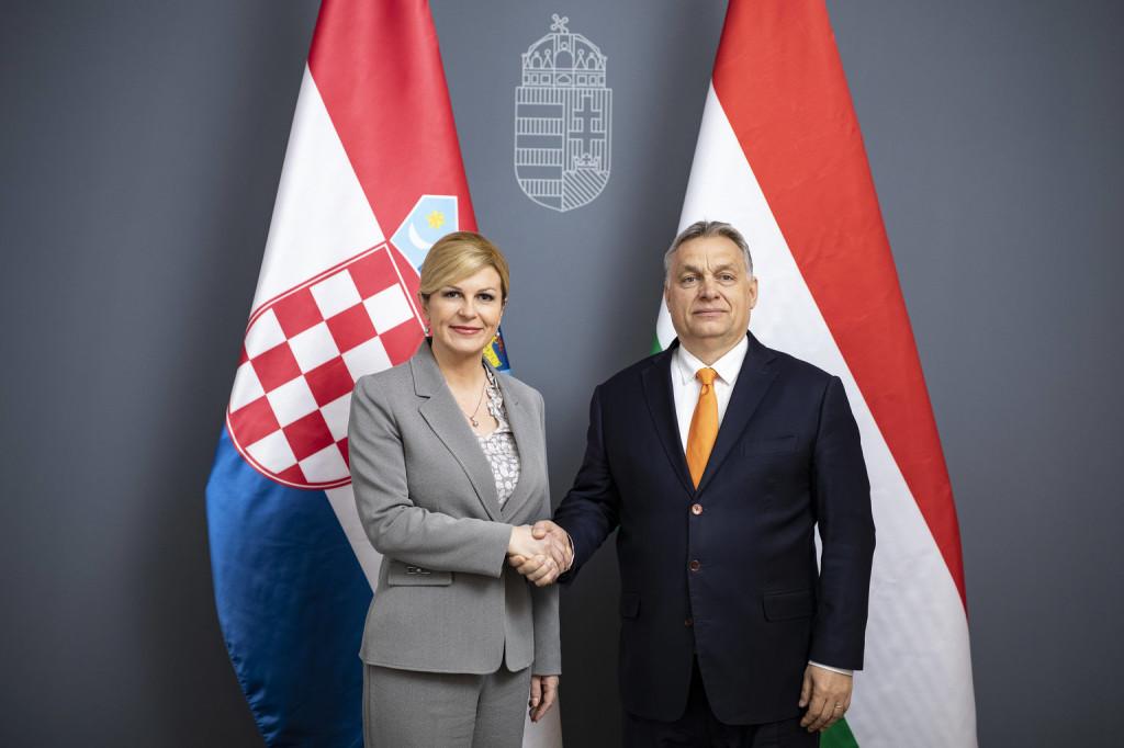 Orbán Viktor fogadta a horvát államfőt