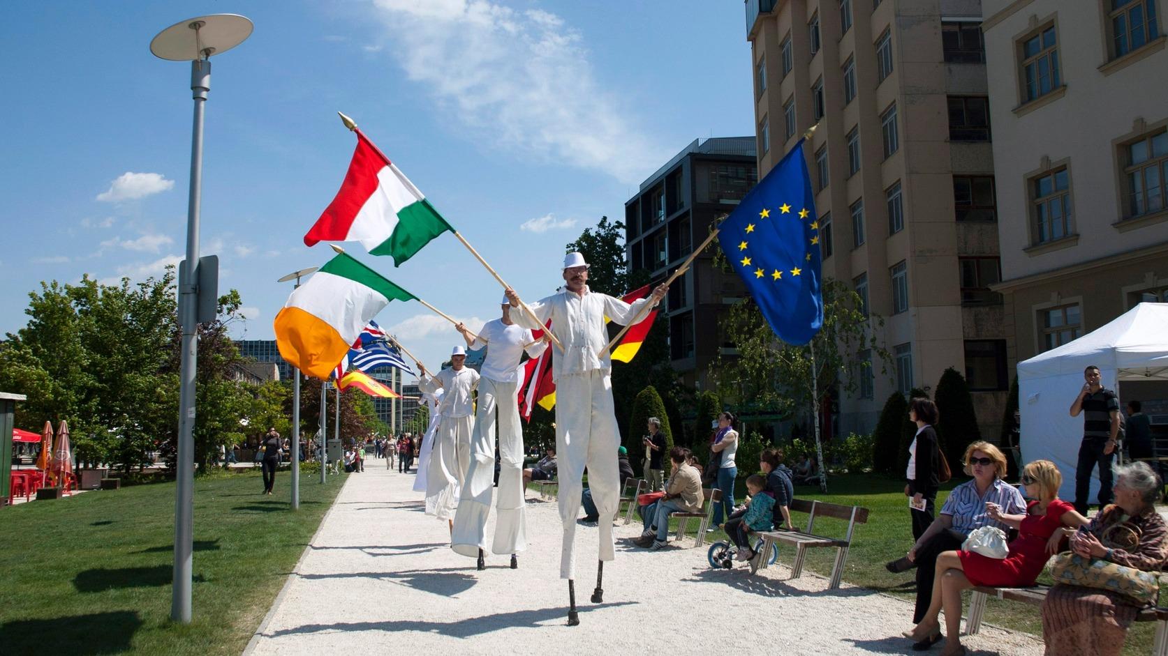Május 7-én tartják azv Európai Unió napját. 1950-ben ezen a napon tett javaslatot Robert Schuman az európai országok integrációjára (Fotó: MTI/Marjai János)