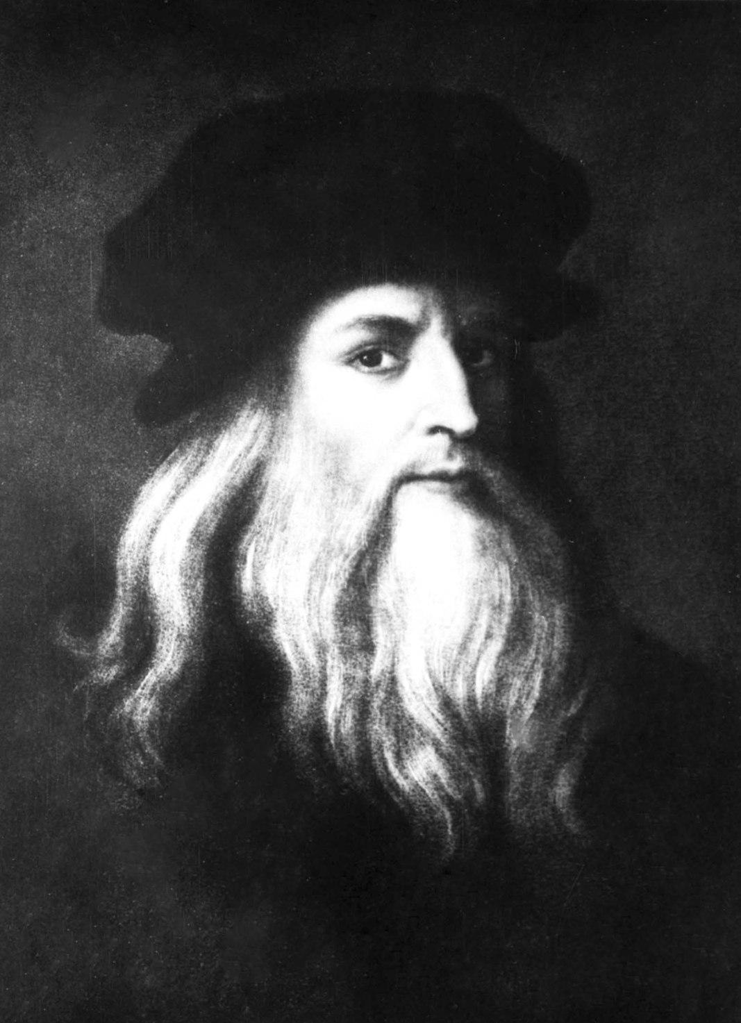 Leonardo da Vinci önarcképe a firenzei Uffizi képtárban (Fotó: MTI Fotó/IT)