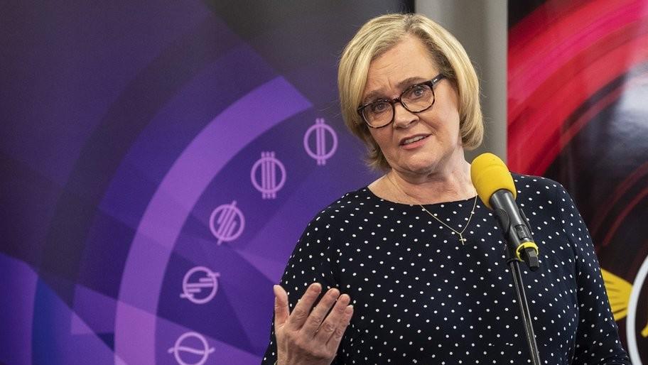 Siklósi Beatrix, az M5 csatornaigazgatója (Fotó: MTI/Szigetváry Zsolt)