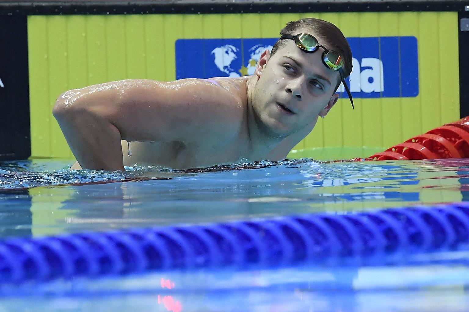 Kvangdzsu, 2019. július 24. Kenderesi Tamás a férfi 200 méteres pillangóúszás szétúszása után a 18. vizes világbajnokságon a dél-koreai Kvangdzsuban 2019. július 24-én. MTI/Kovács Tamás