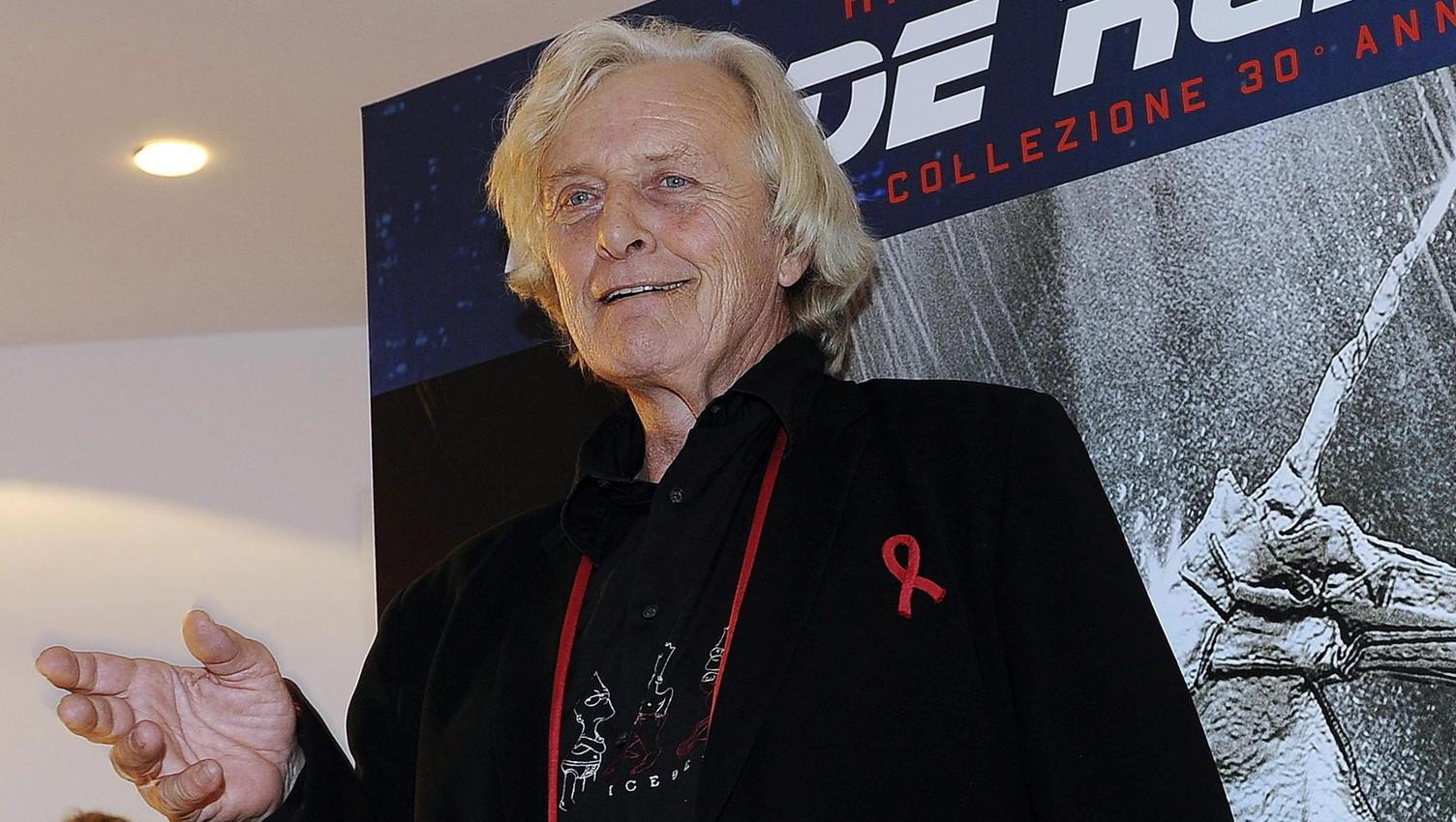 Rutger Hauer holland színész részt vesz a Szárnyas fejvadász (Blade Runner) című filmje bemutatójának 30. évfordulója alkalmából rendezett eseményen Milánóban 2012. október 18-án. (MTI/EPA/Daniel Dal Zennaro)