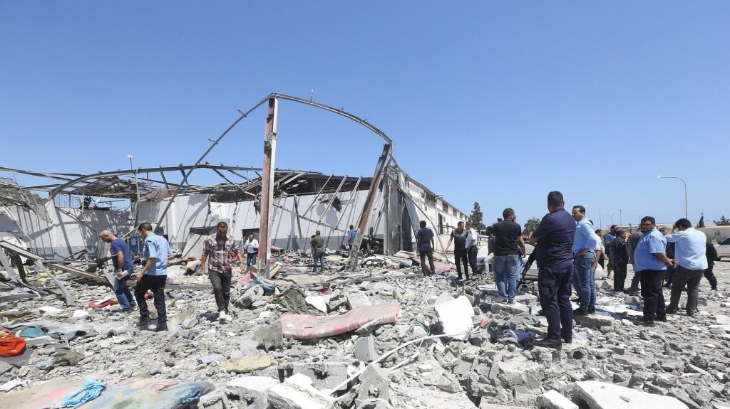 Légicsapás ért egy Tripoli környéki kórházat