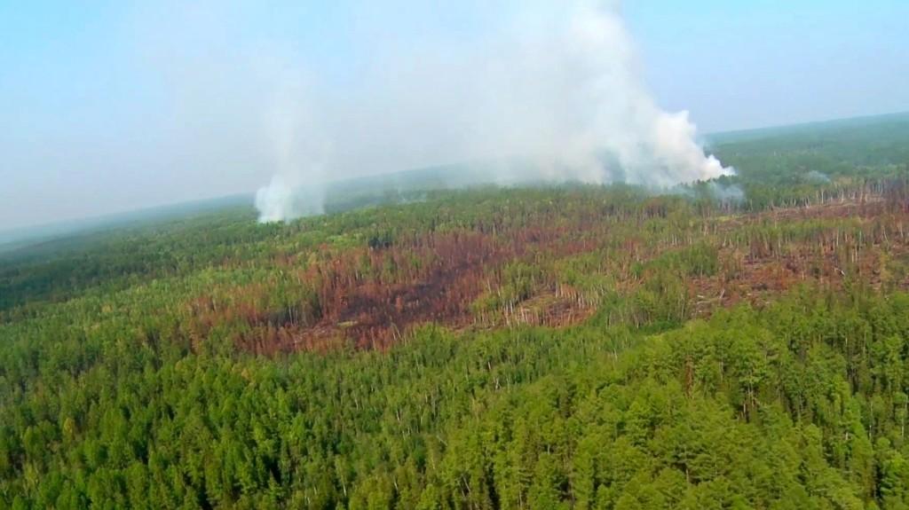 Szibériában 59 ezer hektárnyi erdőtüzet oltott el az orosz légierő
