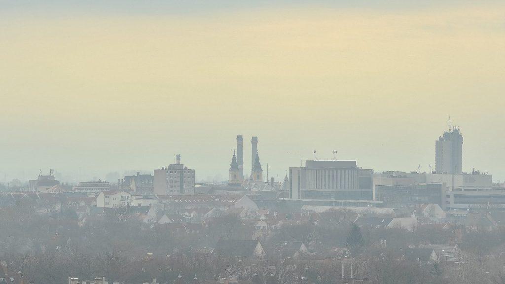 Romlott a levegőminőség a magas szálló por tartalom miatt