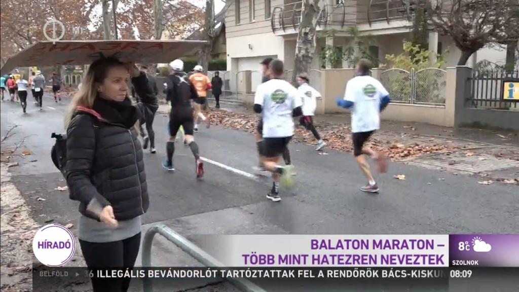 Hatezer futót csábított ki a tavaszias idő a Balaton-partra vasárnap