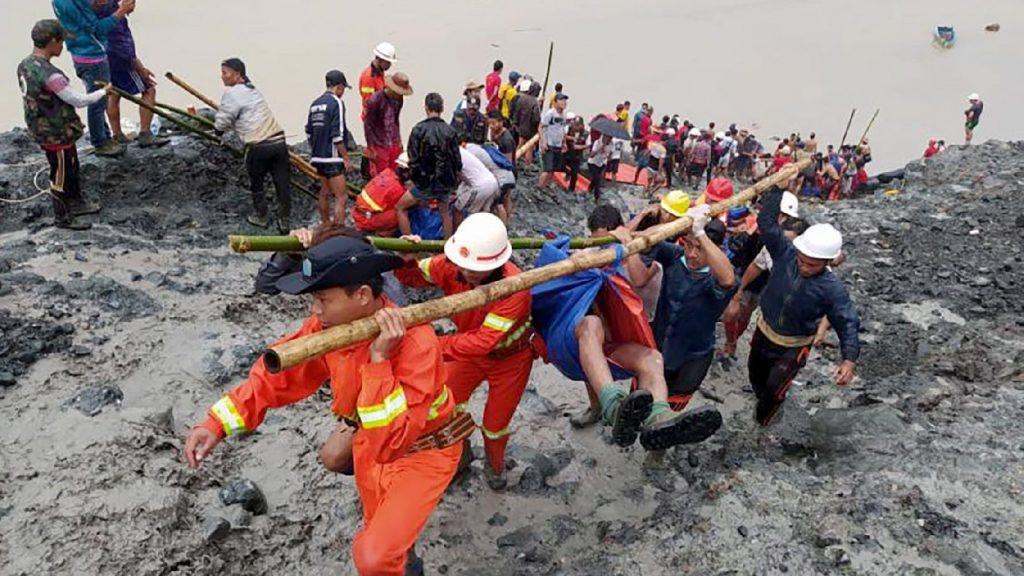 Száztizenhárom bányász vesztette életét egy földcsuszamlásban, Mianmarban