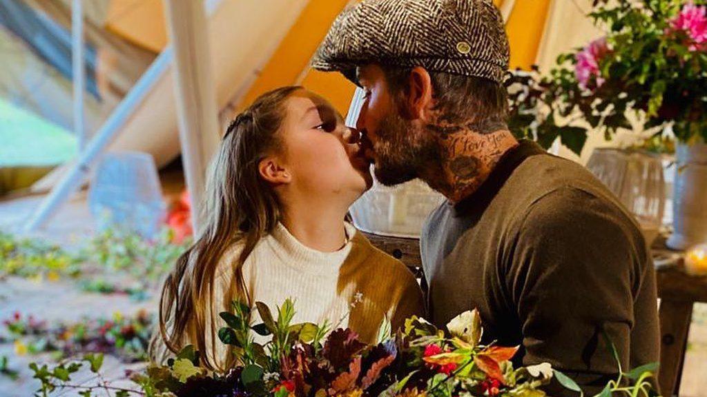 David Beckham szájon csókolta lányát – hatalmas a felháborodás