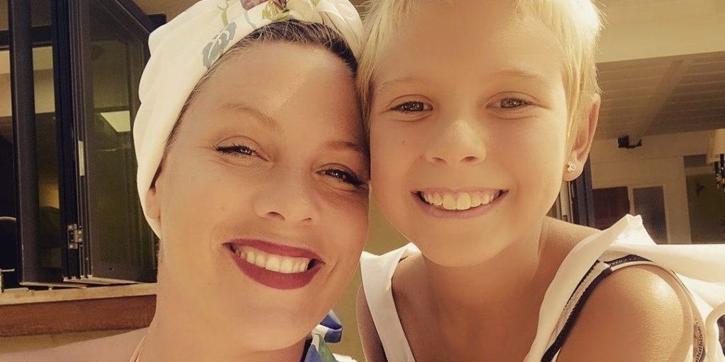 Pink 9 éves kislánya felkerült a slágerlistákra