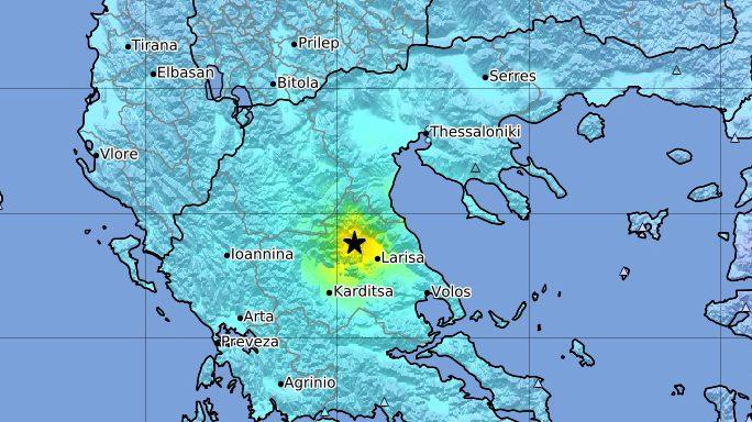 Erős földrengés Görögország középső részén