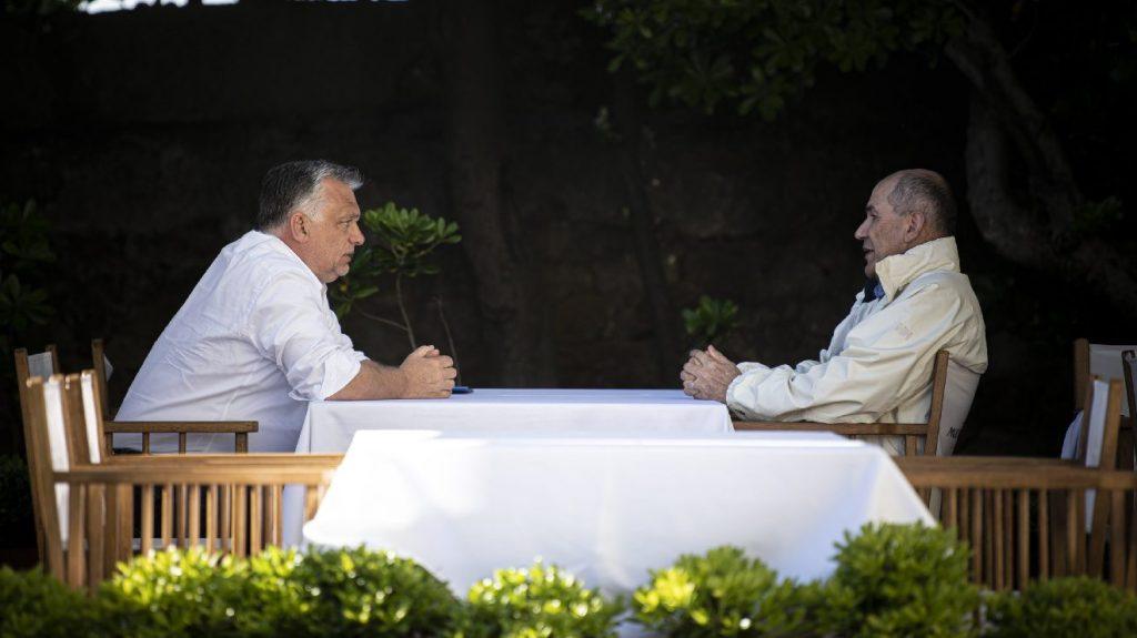 Egyetért az oltás szerepéről Orbán Viktor és Janez Jansa