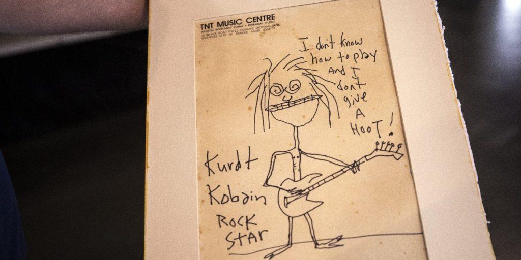 Rekordáron vitte haza egy rajongó Kurt Cobain karikatúráját