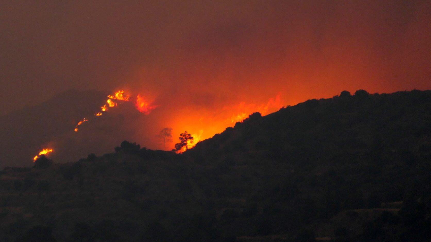 Erdőtűz tombol Cipruson, több települést ki kellett üríteni