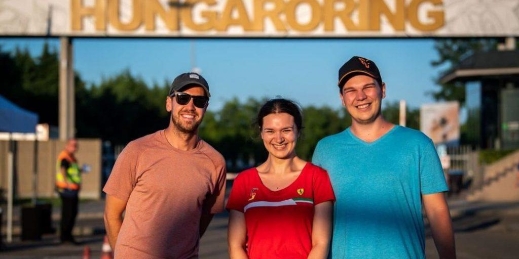 Eljegyzés a Hungaroringen: Vettel is gratulált Dánielnek és Veronikának