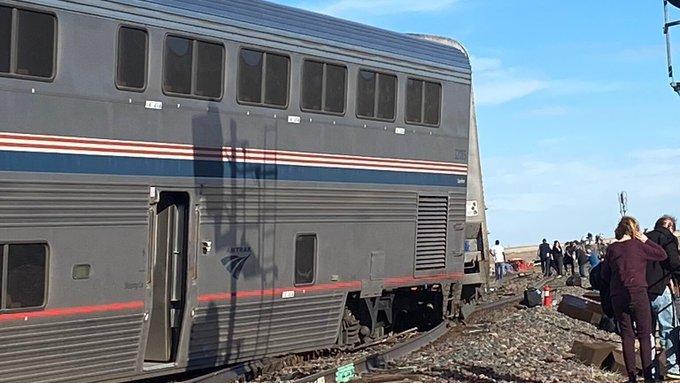 Kisiklott egy vonat az Egyesült Államok északi részén - FOTÓ